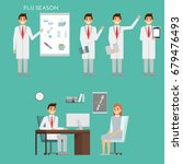 group of doctors characters and ... | Shutterstock . vector #679476493