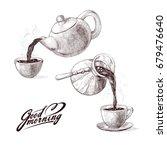 vector sketch illustration of... | Shutterstock .eps vector #679476640