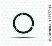 circular arrows vector icon | Shutterstock .eps vector #679477468