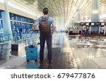 rear view of asian traveler... | Shutterstock . vector #679477876
