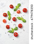 fresh cherry tomatoes with... | Shutterstock . vector #679478350