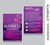 vector brochure flyer design... | Shutterstock .eps vector #679480978
