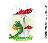 vector image of funny frog... | Shutterstock .eps vector #679483234