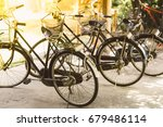 bicycle stand at  the park ... | Shutterstock . vector #679486114