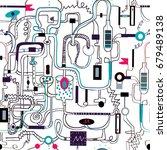 mechanical engineering seamless ... | Shutterstock .eps vector #679489138