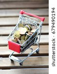 inflation concept with shopping ... | Shutterstock . vector #679490194
