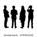 silhouettes people from the... | Shutterstock .eps vector #679492243