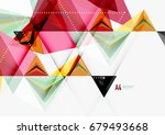 triangular low poly vector a4... | Shutterstock .eps vector #679493668
