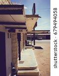 isolated desert motel | Shutterstock . vector #679494058