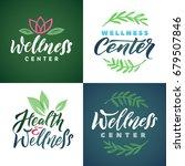 wellness center vector logo set.... | Shutterstock .eps vector #679507846