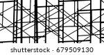 silhouette scaffolding elements ... | Shutterstock . vector #679509130