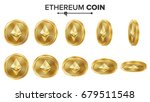 ethereum coin 3d gold coins... | Shutterstock .eps vector #679511548