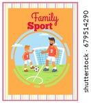 family football sport outdoors...   Shutterstock .eps vector #679514290