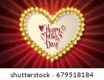 lettering in heart shape. happy ... | Shutterstock . vector #679518184