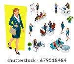 isometric elegant business... | Shutterstock .eps vector #679518484