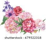 Garden Flowers  Botanical...