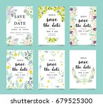 wedding invitation card... | Shutterstock .eps vector #679525300