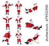 Collage Of Santa Claus On White ...