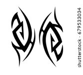 tribal tattoo art designs.... | Shutterstock .eps vector #679533034