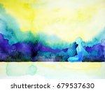 abstract art watercolor... | Shutterstock . vector #679537630
