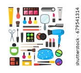vector flat make up tools icon... | Shutterstock .eps vector #679541314