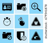 set of 9 web icons such as data ...   Shutterstock .eps vector #679541878