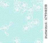 seamless lace background with... | Shutterstock .eps vector #679548358