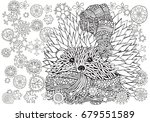 pattern for coloring book.... | Shutterstock .eps vector #679551589