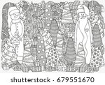 pattern for coloring book of... | Shutterstock .eps vector #679551670