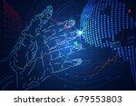 abstract technology business... | Shutterstock .eps vector #679553803