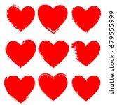set of hearts . grunge stamps... | Shutterstock .eps vector #679555999