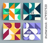 set of trendy pattern cards.... | Shutterstock .eps vector #679557520