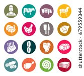 butchery icons | Shutterstock .eps vector #679559344