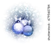 holiday blue background with... | Shutterstock .eps vector #679560784