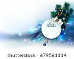 holiday background with... | Shutterstock .eps vector #679561114
