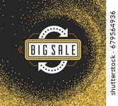 sale badge or label design on... | Shutterstock .eps vector #679564936