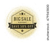 sale badge or label design on... | Shutterstock .eps vector #679565830