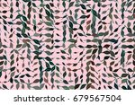 abstract geometric leaves... | Shutterstock .eps vector #679567504