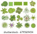 trees top view.different trees  ... | Shutterstock .eps vector #679569454
