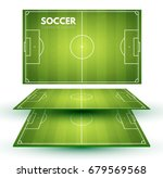soccer field collection.... | Shutterstock .eps vector #679569568