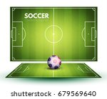 soccer field collection and... | Shutterstock .eps vector #679569640