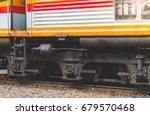 closeup view the wheels of a...   Shutterstock . vector #679570468