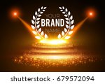 gold scene with spotlights ... | Shutterstock .eps vector #679572094