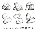 large stones. hand drawing.... | Shutterstock .eps vector #679572814