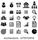 business icons set. icons for... | Shutterstock .eps vector #679576954