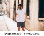 hipster handsome male model... | Shutterstock . vector #679579348