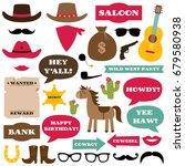 western cowboy party vector... | Shutterstock .eps vector #679580938