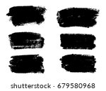 vector black paint  ink brush... | Shutterstock .eps vector #679580968
