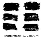 vector black paint  ink brush... | Shutterstock .eps vector #679580974
