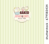 bakery shop banner with cupcakes | Shutterstock . vector #679583434